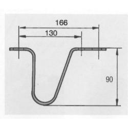 Béquille de sécurité pour attache à inertie H 90 mm