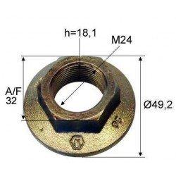 Ecrou de moyeu à jupe Diamètre 24 x 150