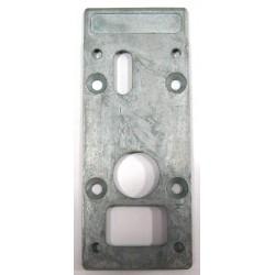 Platine pour serrure aluminium