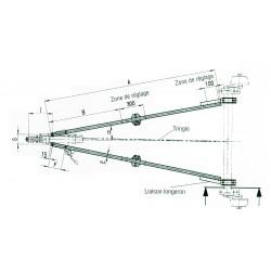 Flèche 1600 kg - 2500 mm