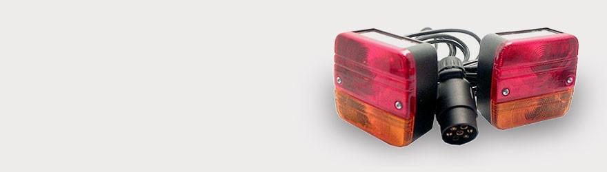 Eclairage  pour : remorques, camping car, vans et caravanes. Pieces détachées sur pieces-accessoires-remorques.com